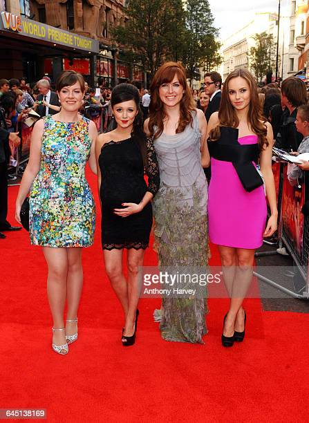 Clair Meek and Hannah Tointon attends the world film premiere of The Inbetweeners Movie at Vue West End on August 16 2011 in London