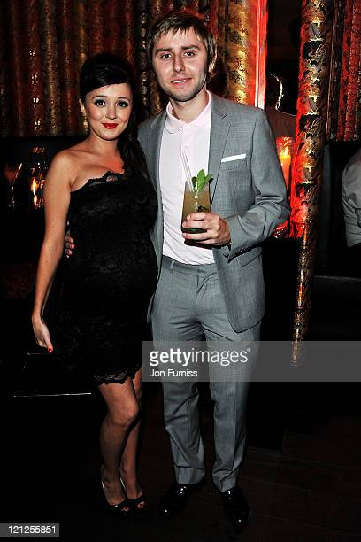 Clair Meek and James Buckley attend the Inbetweeners Movie world premiere afterparty at Aqua Kyoto on August 16 2011 in London England
