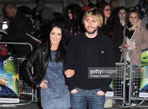 Clair Meek and James Buckley attend the VIP screening of The Muppets Most Wanted at The Curzon Mayfair on March 24 2014 in London England