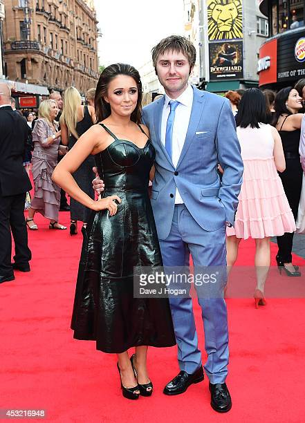 Clair Meek and James Buckley attend the World Premiere of The Inbetweeners 2 at Vue West End on August 5 2014 in London England