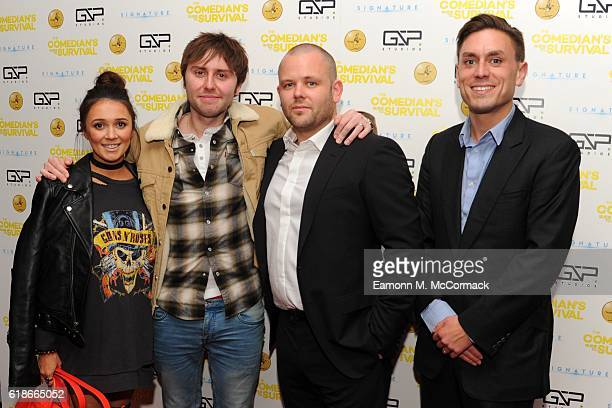 Clair Meek James Buckley Mark Murphy and James Mullinger attend the photocall for The Comedian's Guide To Survival at Vue Piccadilly on October 27...