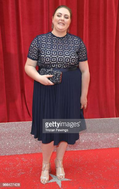 Clair Norris attends the British Soap Awards 2018 at Hackney Empire on June 2 2018 in London England