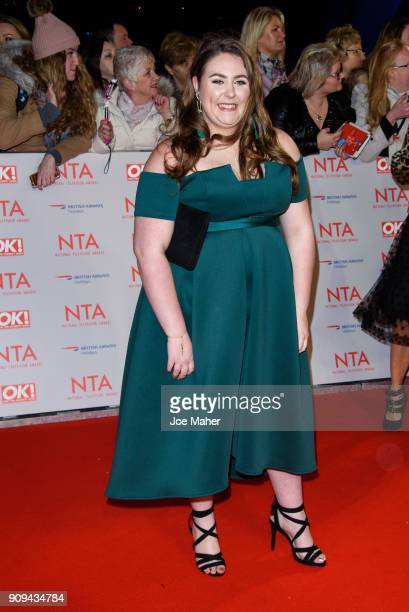 Clair Norris attends the National Television Awards 2018 at The O2 Arena on January 23 2018 in London England