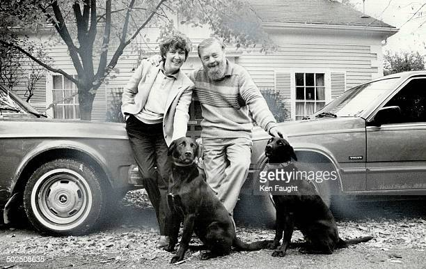Claire and Farley Mowat: At home in Port Hope. His book's done; hers is in process.