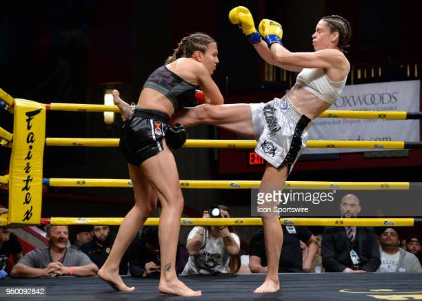 Claire Baxter lands a kick to Antonina Shevchenko's midsection Antonina Shevchenko takes on Claire Baxter in a Womens Super Lightweight Title bout on...