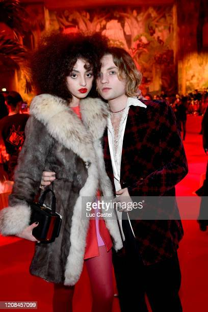 Claire Beardor and Lukas Ionesco attend the Exhibition Opening of L'Exibition[niste] by Christian Louboutin as part of Paris Fashion Week Womenswear...