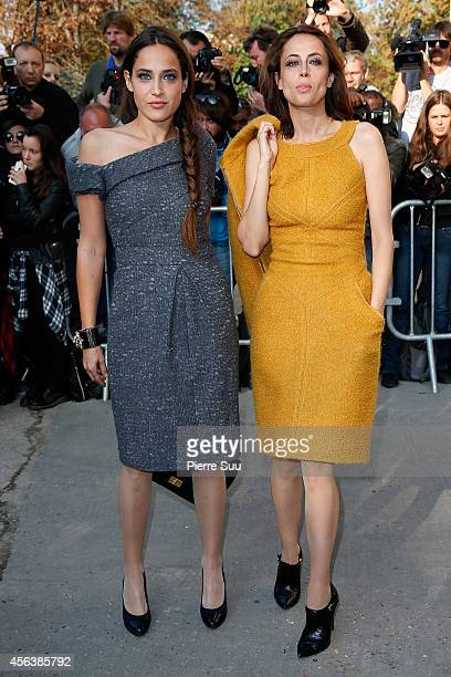 Claire Berest and Anne Berest attend the Chanel show as part of the Paris Fashion Week Womenswear Spring/Summer 201 on September 30 2014 in Paris...