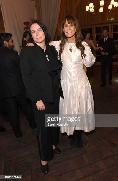 Claire Bergkamp and Julie Gilhart attend the gala dinner in honour of Edward Enninful winner of the Global VOICES Award 2019 during #BoFVOICES on...