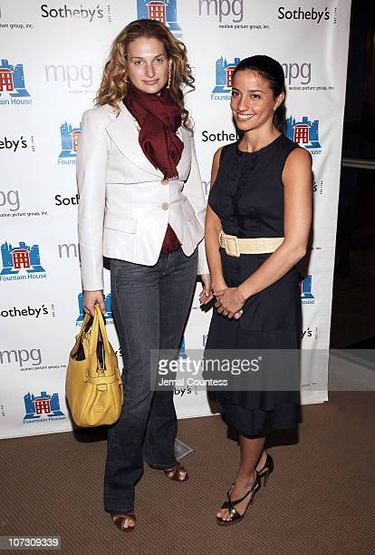 Claire Bernard and Shoshanna Lonstein Gruss during Sotheby's Hosts FRANCESCO SCAVULLO A Photographic Retrospective and Auction to Benefit Fountain...