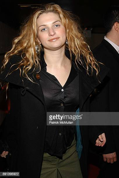 Claire Bernard attends CocaCola Make It Real Launch Party with Jennifer Nicholson amd Shepard Fairey at Marquee on February 10 2005 in New York City