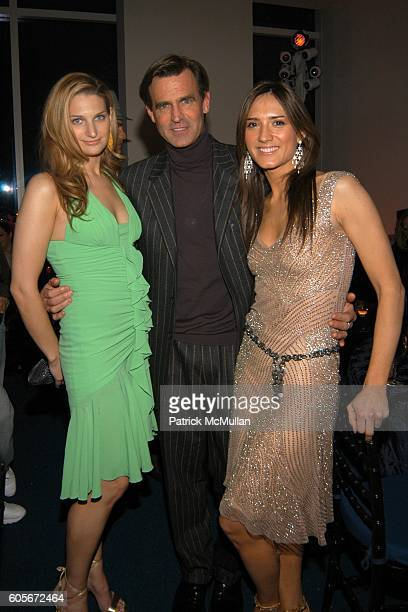 Claire Bernard Paul Beck and Zani Gugelmann attend VERSACE VIP Dinner at 1 Beacon Court on February 7 2006 in New York