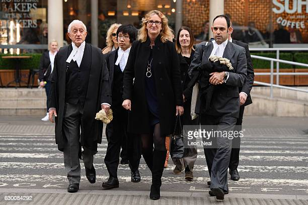 Claire Blackman, the wife of imprisoned marine Alexander Blackman arrives for his bail hearing at Royal Courts of Justice, Strand on December 16,...
