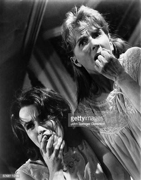Claire Bloom and Julie Harris in the still used for the poster advertising the 1963 motion picture The Haunting