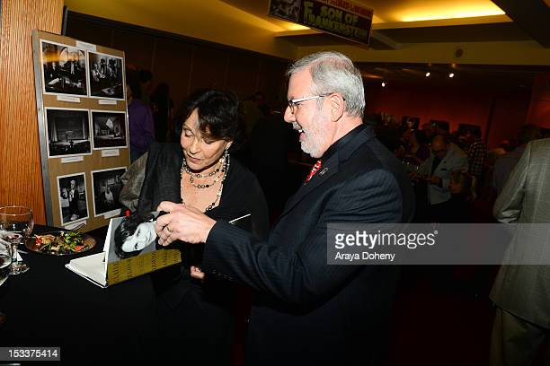 Claire Bloom and Leonard Maltin attend the Academy of Motion Picture Arts and Sciences presentation of the 60th anniversary of Chaplin's 'Limelight'...