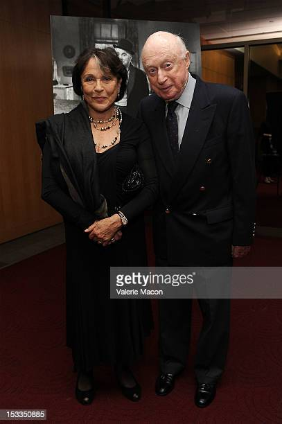 Claire Bloom and Norman Lloyd attend The Academy Of Motion Picture Arts And Sciences' Presents The 60th Anniversary Screening Of Limelight at AMPAS...