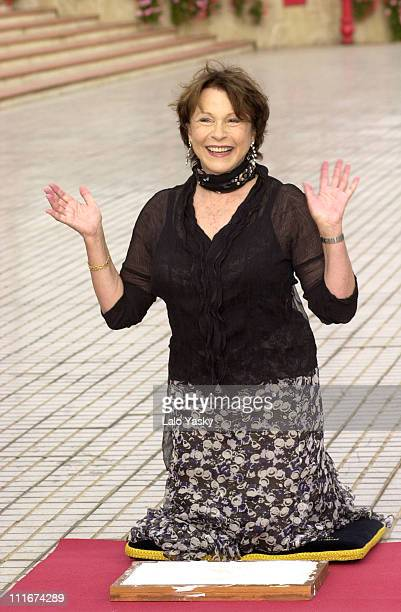 Claire Bloom during Maria Schneider Omar Sharif and Claire Bloom Photocall At The 2004 Las Palmas Film Festival at Terrace of the Alfredo Kraus...
