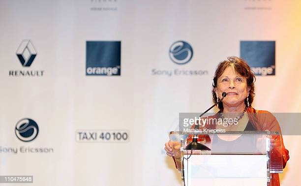 Claire Bloom speaks on stage at the 2nd Orange Filmball Vienna at the Townhall on March 18 2011 in Vienna Austria