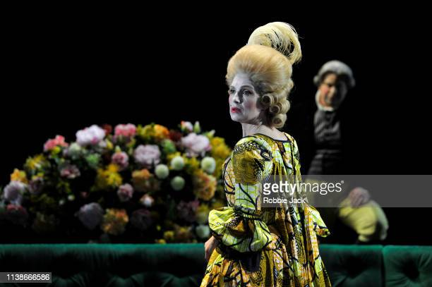 Claire Booth as Berenice in The Royal Opera's production of George Frideric Handel's Berenice at The Linbury Theatre in The Royal Opera House on...