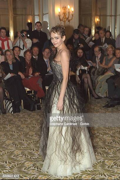 Claire Borotra actress and model for the Franck Sorbier Spring/Summer 2001 collection
