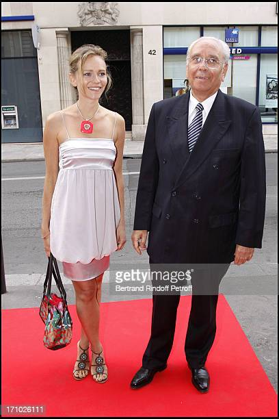 Claire Borotra and father Franck Borotra at 25th Gala Of Association L'Aide Aux Enfants Refugies To Help Children In Cambodia At Salle Gaveau In Paris