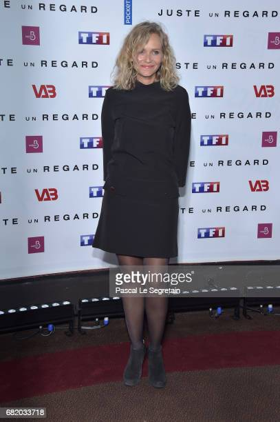 Claire Borotra attends the photocall for Juste un regard TV show at Cinema Gaumont Marignan on May 11 2017 in Paris France