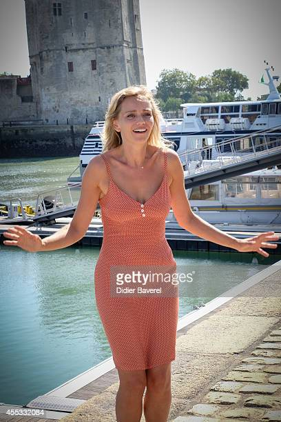 Claire Borotra attends the photocall of 'Disparus' as part of 16th Festival of TV Fiction of La Rochelle on September 12 2014 in La Rochelle France