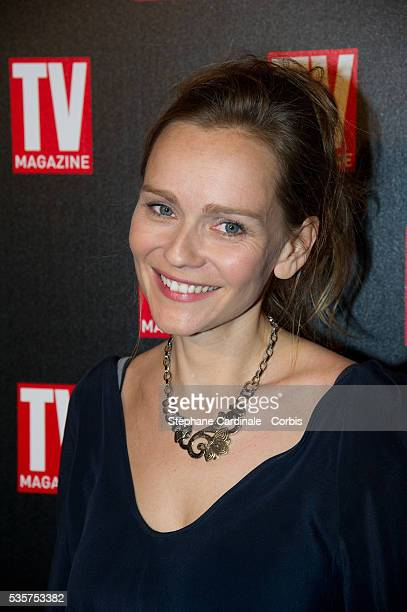 Claire Borotra attends the TV Mag Anniversary 25th at Hotel Plaza Athenee in Paris