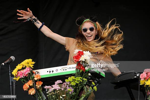 Claire Boucher aka Grimes performs onstage during Day 2 of the 2013 Austin City Limits Music Festival at Zilker Park on October 5, 2013 in Austin,...