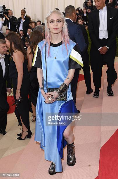 Claire Boucher arrives for the 'Manus x Machina Fashion In An Age Of Technology' Costume Institute Gala at Metropolitan Museum of Art on May 2 2016...