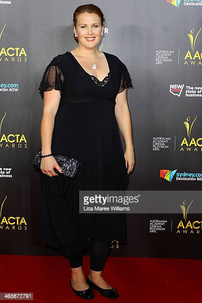 Claire Bowditch arrives at the 3rd Annual AACTA Awards Ceremony at The Star on January 30 2014 in Sydney Australia