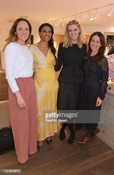 Claire Brayford Noella Coursaris Musunka Georgie Abay and Julie Adams attend a party celebrating Bonpoint x The Grace Tales at the Bonpoint...