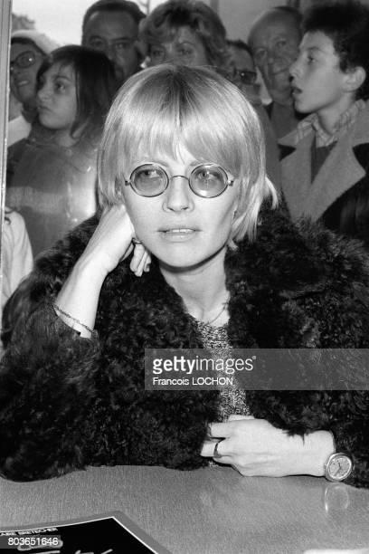 Claire Bretécher à Paris en octobre 1975 en France