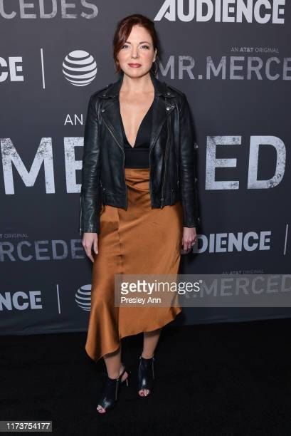 Claire Bronson attends photo call for ATT AUDIENCE Network's Mr Mercedes special SAG screening at Linwood Dunn Theater on September 10 2019 in Los...