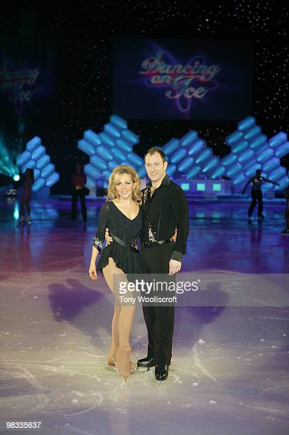 Claire Buckfield and Lukasz Rozycki attend the Dancing on Ice Tour photocall on April 8 2010 in Sheffield England