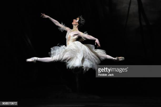 Claire Calvert as Myrtha in the Royal Ballet's production of Peter Wright's adaptation of Marius Petipa's Giselle at The Royal Opera House on January...