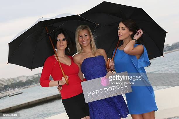 Claire Castel Lola Reve Jade Laroche attend photocall for Dorcel 35th Anniversary at MIPTV 2014 at Hotel Majestic Jetty on April 8 2014 in Cannes...