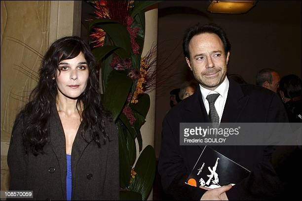 Claire Castillon and Marc Levy in Paris, France on February 04th, 2005.