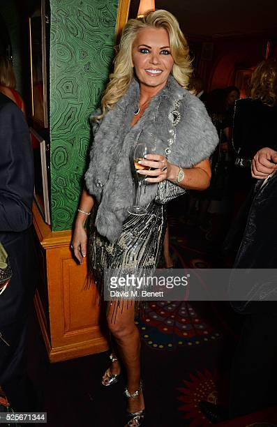 Claire Caudwell attends a private dinner hosted by Fawaz Gruosi founder of de Grisogono at Annabels on April 28 2016 in London England
