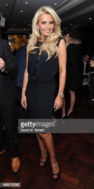 Claire Caudwell attends the launch of new book My Fight To The Top by Ultimo founder Michelle Mone at Salmontini on March 12 2015 in London England