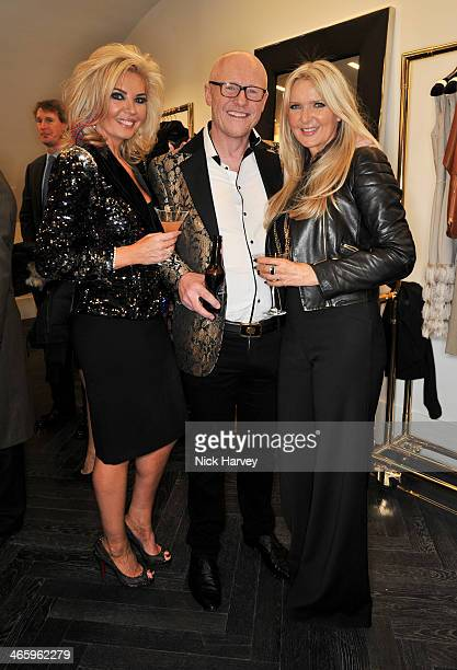 Claire Caudwell John Caudwell and Amanda Wakeley attend the opening of the new Amanda Wakeley store on January 30 2014 in London England