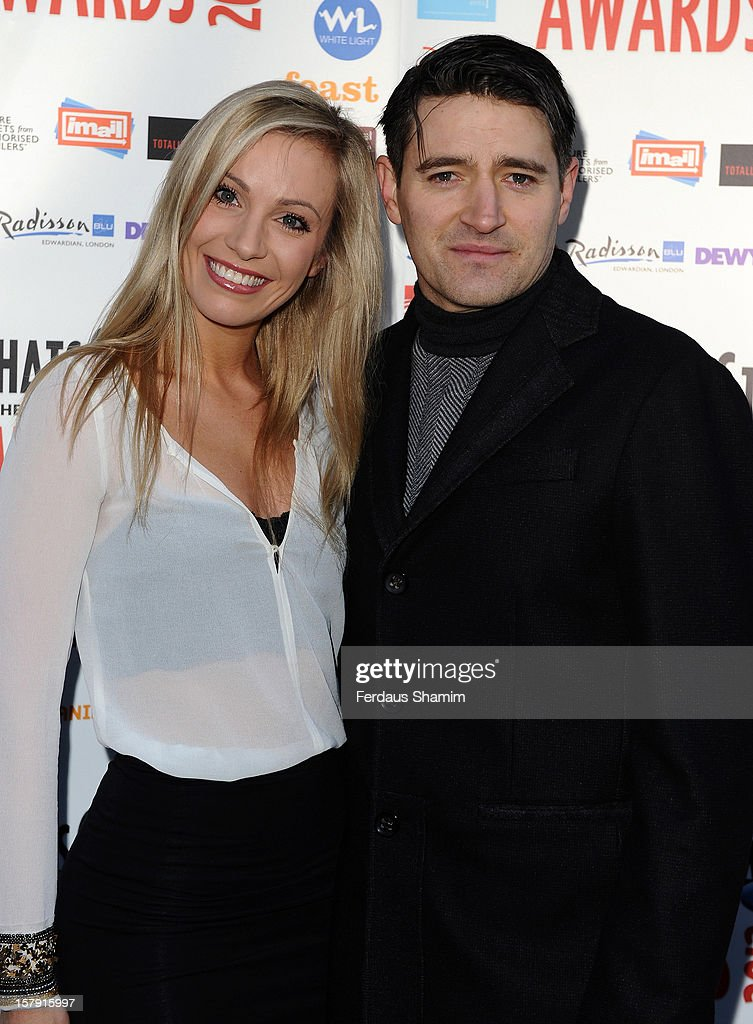 Claire Chambers and Tom Chambers attend the Whatsonstage.com Theatre Awards nominations launch at Cafe de Paris on December 7, 2012 in London, England.