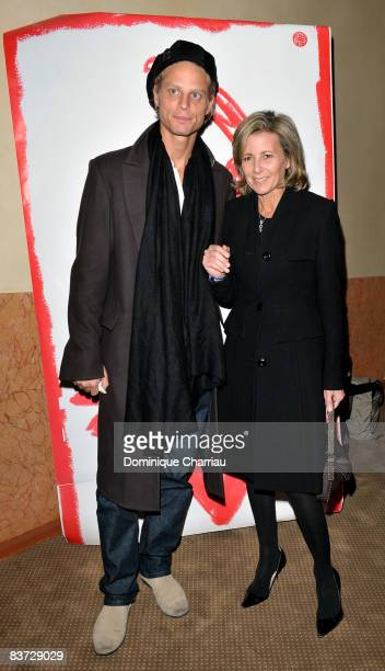 Claire Chazal and Arnaud lemaire attend Generale of Valerie Lemercier one woman show at the Theatre Le Palace on November 17 2008 in Paris France