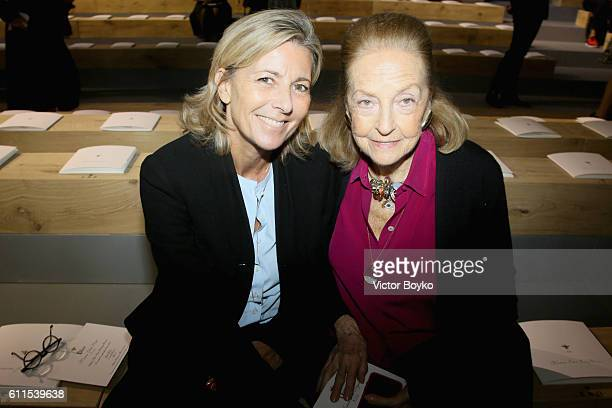 Claire Chazal and Doris Brynner attend the Christian Dior show as part of the Paris Fashion Week Womenswear Spring/Summer 2017 on September 30 2016...