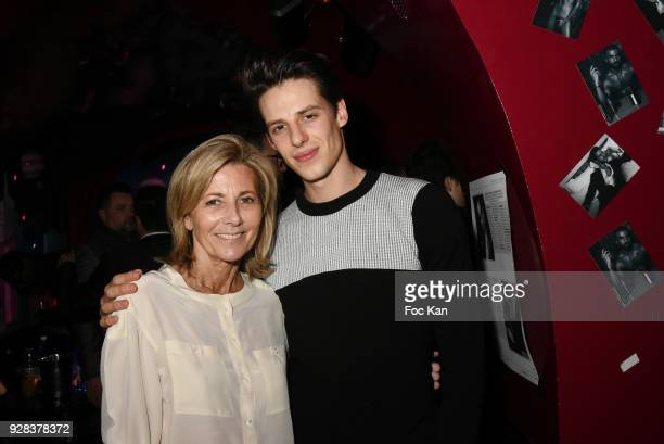 Claire Chazal and her guest Opera dancer attend Mecs A Poils Stefanie Renoma Exhibition Party at Castel Club Paris Fashion Week Womenswear...