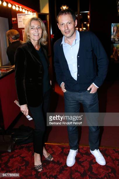 Claire Chazal and MarcOlivier Fogiel attend the 'Patrick et ses Fantomes' Theater Play at Casino de Paris on April 17 2018 in Paris France