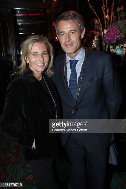 Claire Chazal and Philippe Mugnier attend the Dinner in tribute to Artist Ali Banisadr at Maxim's Restaurant as part of the FIAC 2019 International...