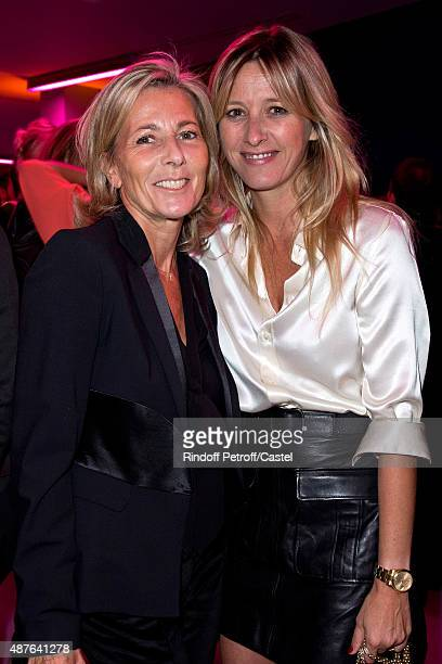 Claire Chazal and Sarah Lavoine attend the Auction Dinner to Benefit 'Institiut Imagine' on September 10 2015 in Paris France