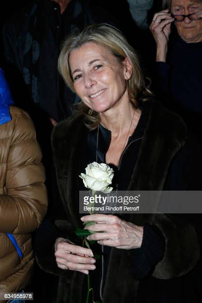 Claire Chazal attends Gerard Depardieu sings Barbara accompanied on the piano of Barbara by Gerard Daguere who was Barbara's Pianist for more than 15...