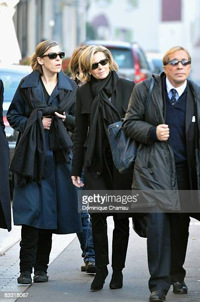 Claire Chazal attends Guillaume Depardieu's funeral service at NotreDame Church on October 17 2008 in Bougival France