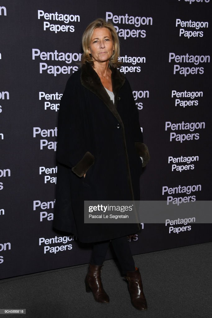 Claire Chazal attends 'Pentagon Papers' (The Post) Premiere at Cinema UGC Normandie on January 13, 2018 in Paris, France.